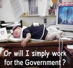 μωρό σε γραφείο